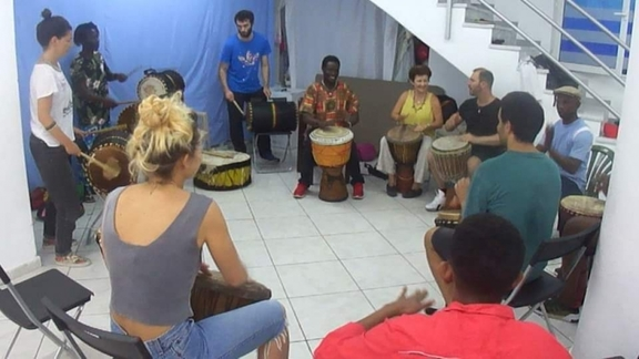 00 Djembe workshop with Dauda Conteh